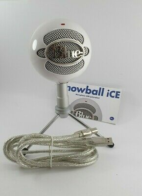 Blue Microphones Snowball ICE USB Cardioid Microphone For Record, Stream- White • 55.64£