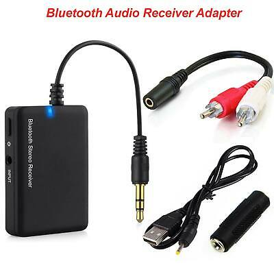 Wireless Bluetooth To AUX Stereo Music Receiver Adapter BTR006 Car Speaker UK • 7.39£