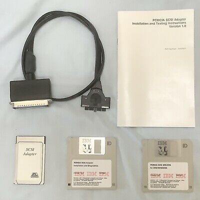 IBM 40G1890 PCMCIA SCSI Adapter And Cable (With Manual And Disks) • 12.99£