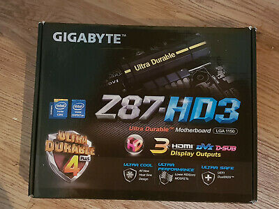 Gigabyte Z87-HD3 Intel LGA1150 Motherboard (Used) • 21£