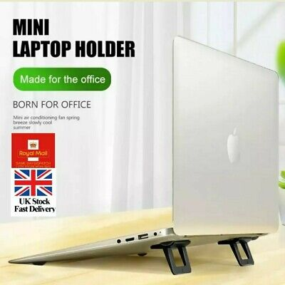Mini Notebook Laptop Cooling Stand Support Foldable Adhesive Resuable Feets Pads • 7.95£