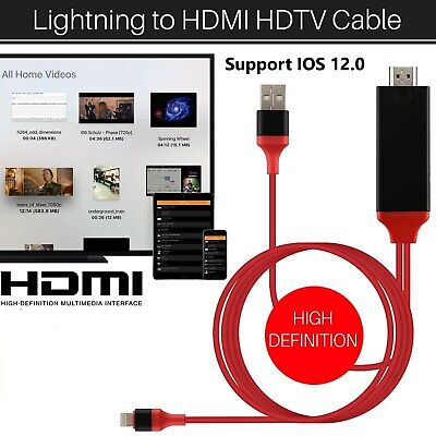 8 Pin IPhone To HDMI Digital TV AV Adapter Cable For IPad IPhone 5 6 7 8 X XS • 7.19£