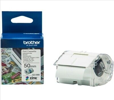 Brother CZ- 1005 Label Roll 50mm X 5m For Brother VC-500W CZ1005 • 34.99£