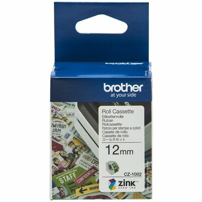 Brother CZ- 1002 Label Roll 12mm X 5m For Brother VC-500W CZ1002 • 18.99£