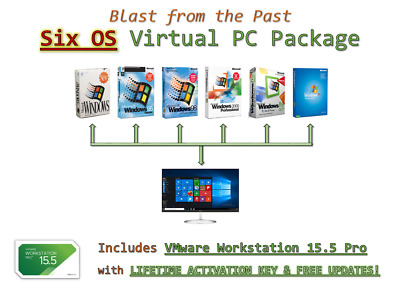 Virtual PC Package - 6 Operating Systems @LOOK@ • 8.99£