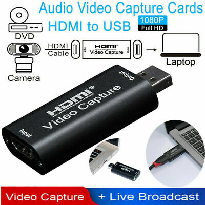 HDMI To USB 2.0 Video Capture Card 1080P HD Recorder Game/Video Live Streaming U • 8.98£