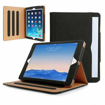 Genuine Leather BLACK TAN Smart Stand Case Cover For Apple Ipad 10.2, 10.5, 9.7 • 8.99£