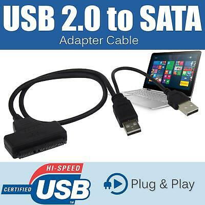 2.5  2.0 USB To 22P SATA Cable Serial ATA HDD/SSD Adapter For Laptop Hard Drive • 3.59£