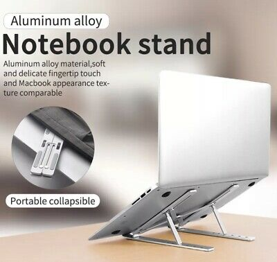 Aluminum Alloy Laptop Stand Adjustable For All Makes And Model • 9.99£