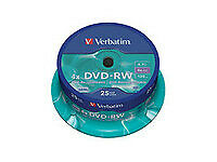 NEW! Verbatim 43639 DVD-RW 4x 4.7GB Branded • 32.18£