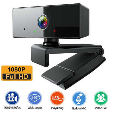 Full HD 1080P Webcam With Microphone MIC USB For PC Desktop Laptop NEW UK Stock • 11.99£