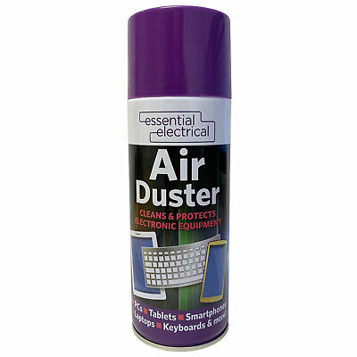 Essential Electrical Compressed Air Duster 400ml Cleans Protects Equipment • 5.79£