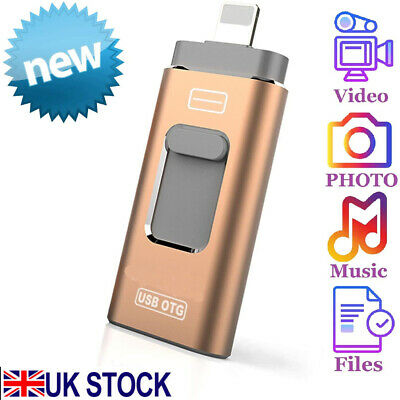 USB IFlash Drive For IPhone IPad Photo Stick Memory Stick External Storage 256GB • 12.99£
