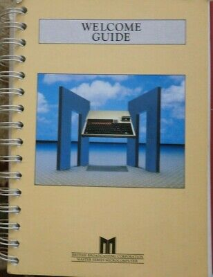 ACORN BBC Master MicroComputer - Welcome Guide - ACORN - USED • 12.50£