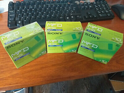 """25 NEW Sony MFD 2HD 3.5"""" Micro Floppy Disks Formatted 1.44MB 2 Full Boxes + 5 • 14.99£"""