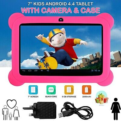 7″ INCH 8GB ANDROID WIFI TABLET PC Camera PAD QUAD CORE KIDS CHILD CHILDREN  • 31.99£