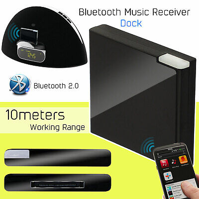 Wireless Bluetooth A2DP Music Receiver Audio Adapter Dock 30 Pin For IPhone IPod • 4.49£
