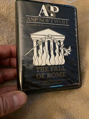 Zx Spectrum Game THE FALL OF ROME, Complete With Map, Both Inlays / Instructions • 14.99£