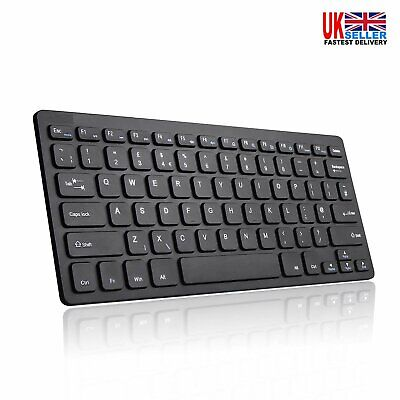 New Slim Wireless Bluetooth Keyboard For Imac Ipad Android Phone Tablet  Uk • 8.39£