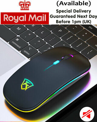 New LED Wireless Mouse Cordless Optical Mice For PC Laptop Computer 2.4GHz Games • 6.50£