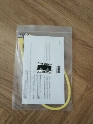 Cisco GigaStack GBIC Stack Loop Cable New CAB-GS-50CM  • 4.99£