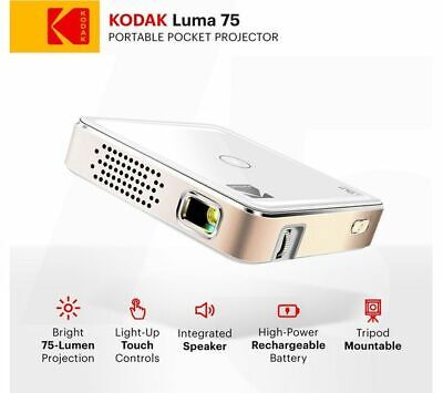 KODAK Pocket Portable Projector Luma 75, Plug And Play Operation White NEW! • 170£