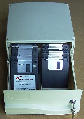 30 X Used Assorted 3.5  Floppy Disks HD 1.44MB With 100 Disk Storage Box • 20£