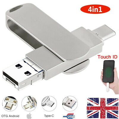 1TB USB 3.0 OTG Type C Flash Drive Memory Stick Thumb 4in1 For IPhone Android PC • 29.96£