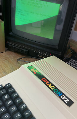 Dragon 32 Computer Tested Working With Cassette Games Bundle And Two Joysticks • 129.99£