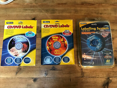 Fellowes Neato CD/DVD Mini Labelling Kit - Unused And Extra Label Packs - Sealed • 4.99£
