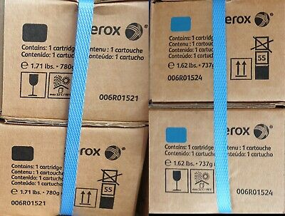 XEROX 550 Toner Cyan 006R01524  And Black 006R011521 Two Of Each  • 185£