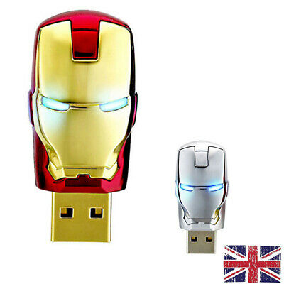 1TB 256GB USB 2.0 Memory Stick Metal Iron Man Flash Thumb Pen Drive Storage PC • 12.99£