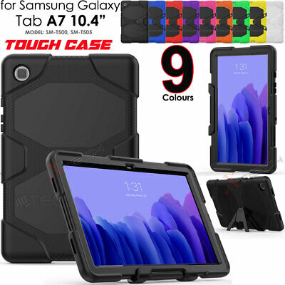 For Samsung Tab A7 10.4  2020 T500 Tough HEAVY DUTY Rugged Shock Survival Case • 12.95£