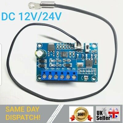 DC Fan Temperature Control Governor PWM Chassis Fan Speed Regulator 12V 24V 2A • 14.99£