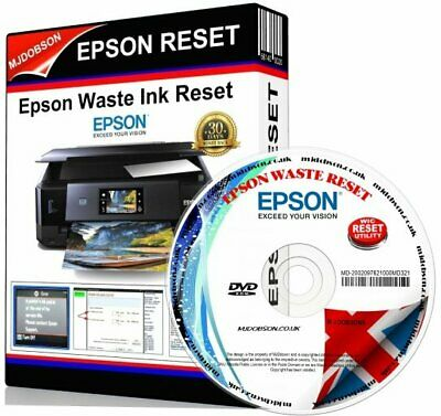 Epson Xp520 Xp620 Xp625 Xp720 Xp820 Printer Waste Ink Pad Full Reset Engineer Cd • 3.95£