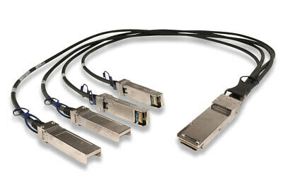 Molex 40Gig QSFP+ To 4x 10Gig SFP+ Breakout Cable Assembly 3m - NEW • 30£