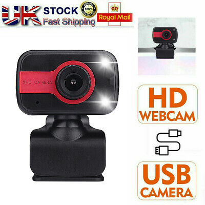 HD Webcam USB Web Camera With Microphone For Laptop PC Desktop Computer UK Stock • 10.49£