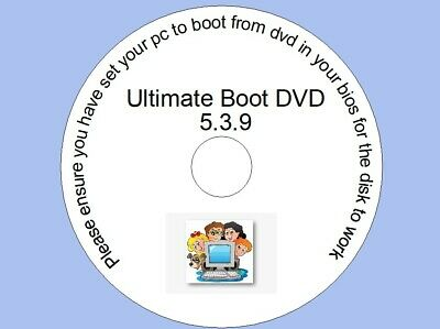 Ultimate Boot DVD Restore, Repair, And Recovery For Windows XP Vista 7 8 10 • 3.29£