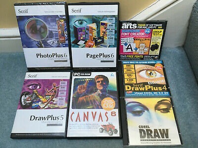 Bundle Of Software CD Vintage Retro Computing - Corel Draw, Serif And Others • 1.80£
