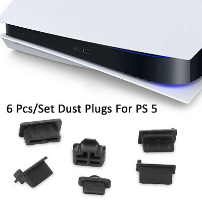 6pcs/Set Silicone Dust Plugs Anti-dust Silicone Cover Dustproof For PS5 Game • 3.59£