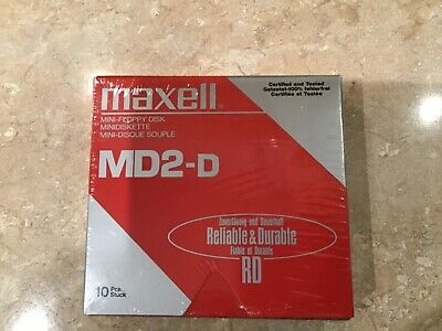 New And Sealed Maxell MD2-D Mini-Floppy Disk X 10 • 6.50£