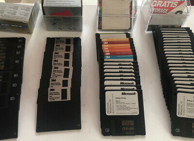 """3.5"""" Floppy Disks Multipack X 55 Both New & Used (see Photos For Memory Size) • 35£"""