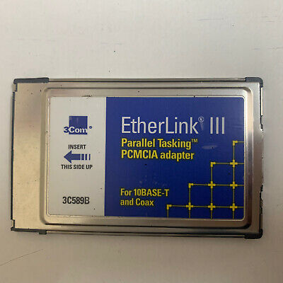 EtherLink III PCMCIA LAN PC Card - 3C589B -  Without A Cable • 9.99£