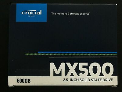 Crucial MX500 500GB 2.5  Solid State Drive (New) • 53.99£