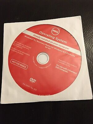 DELL WINDOWS 8.1 RECOVERY MEDIA FOR WINDOWS 8.1 64-bit DVD - SEALED • 8£