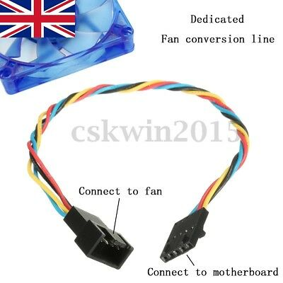 5 Pin Latch Dedicated Fan To 4 Pin Cable Adapter Interface Connector For Dell • 3.89£