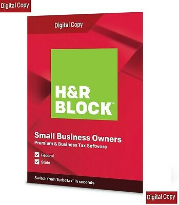 H&R BLOCK Tax Software Premium & Business 2020 Fed Efile+State: US Tax Only • 30£
