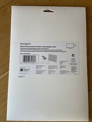 Kensington FP123 Privacy Screen For Surface Pro 4 • 14£