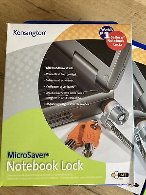 Kensington Microsaver Notebook Lock X 3. New In Boxes Bargain! • 10£