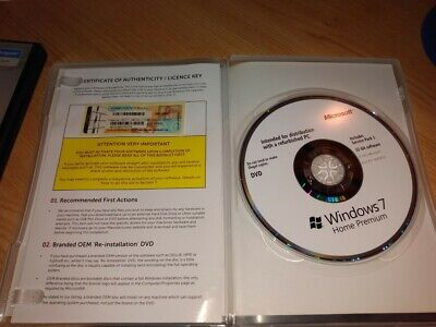 Windows 7 Home Premium Edition With Certificate Of Authenticity/licence Key • 21£